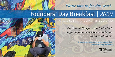 Volunteers of America, Utah's 19th Annual Founders' Day Breakfast tickets