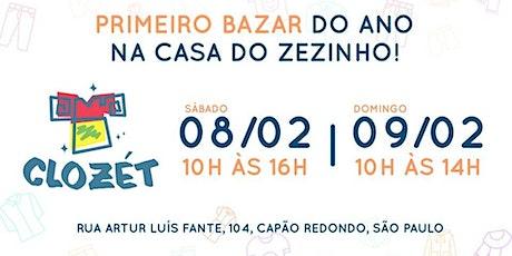 1° Bazar Clozét do Ano em prol da Casa do Zezinho! ingressos