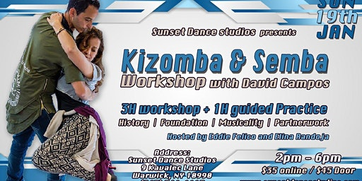 Sunset Kizomba & Semba Workshops with David Campos