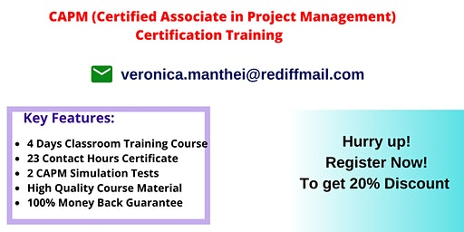 CAPM Certification Training In Chico, CA