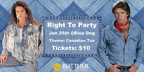Right to Play Presents: Right to Party @Blue Dog tickets