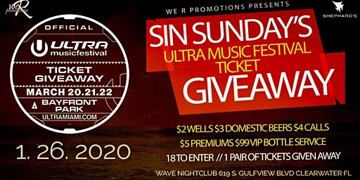 Sin Sunday's (Official #ultra2020 ticket giveaway event)