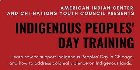 Indigenous Peoples' Day Traning tickets