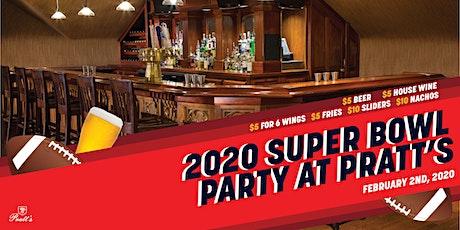 2020 Super Bowl Party at Pratt's tickets