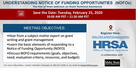 Applying for HRSA Grants & Understanding NOFO Requirements Webinar tickets
