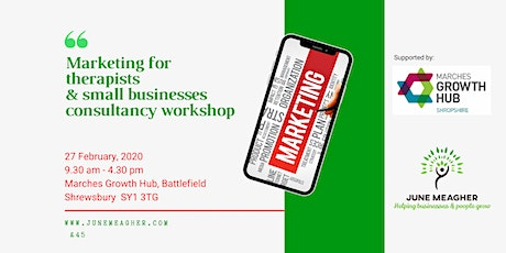 Marketing consultancy workshop for therapists and small businesses tickets