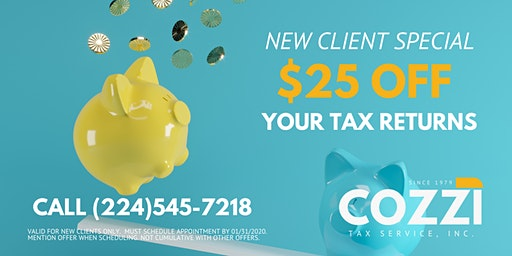 It's time to get your 2019 Taxes done!