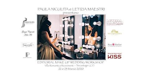 EDITORIAL MAKE UP WEDDING  WORKSHOP - MARZO  2020 biglietti