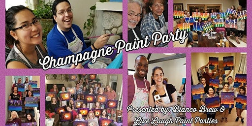 Champagne Paint Party at Blanco Brew