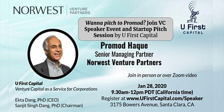 VC Speaker: Norwest Venture Partners Senior Managing Partner Promod Haque tickets