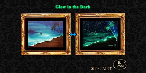 Sip and Paint (Glow in the Dark): Glowing Beach