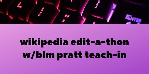 BLM Teach-In Edit-A-Thon
