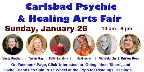 Carlsbad Psychic and Healing Arts Fair tickets