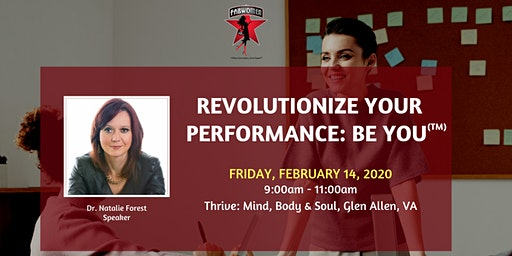 Revolutionize your performance – BE YOU!