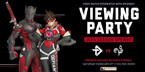 Toronto Defiant's 2020 Overwatch League Season Opener Viewing Party