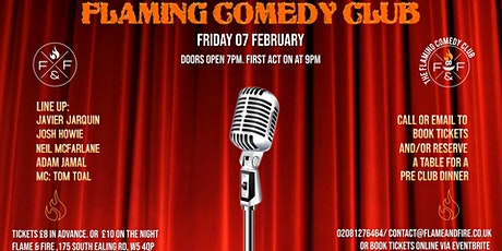 Flaming Comedy Club tickets