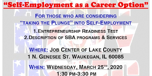 """""""Self-Employment as a Career Option"""" with The Small Business Administration"""