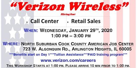 Employment Workshop with Verizon Wireless tickets