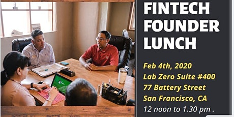 Fintech Founder Lunch tickets
