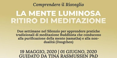 La MENTE LUMINOSA_Ritiro di Samatha & Dzogchen_Tina Rasmussen