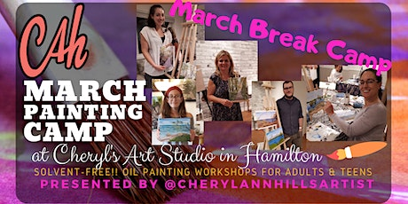 March Break Camp - Oil Painting for Teens & Adults Morning Session tickets