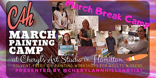 March Break Camp - Oil Painting for Teens & Adults Morning Session