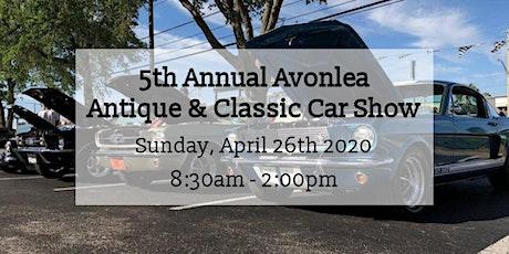 5th Annual Avonlea Classic Car Show tickets
