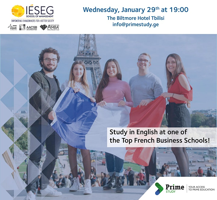 IÉSEG School of Management Information Session in Tbilisi image
