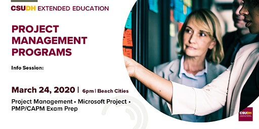 Info Session: Project Management Programs | CSUDH Beach Cities (March 2020)