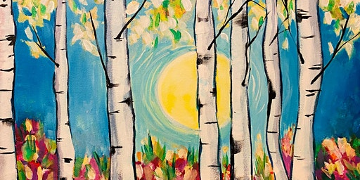 Paint Night Party - 'Silver Birch Glory' at The Blue Bell, HELPSTON, P'boro