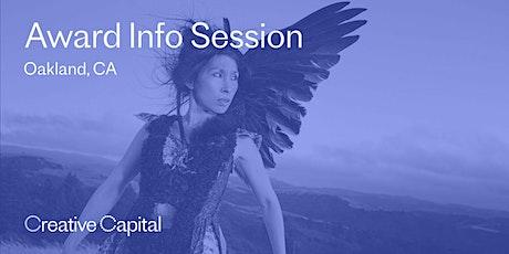 Creative Capital Award Application Info Session - Oakland tickets
