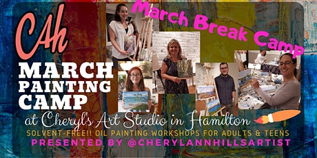 March Break Camp - Oil Painting for Teens & Adults Afternoon Session tickets