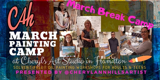 March Break Camp - Oil Painting for Teens & Adults Afternoon Session