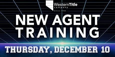 New Agent Training tickets