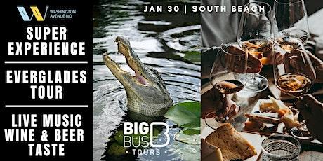 SUPER EXPERIENCE: Big Bus Everglades, Wine & Beer Taste, Live Music Series tickets