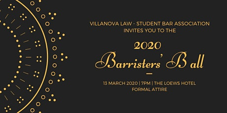 2020 VLS Barristers' Ball tickets