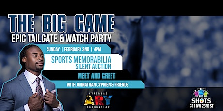 The Big Game Wynwood Watch Party with Johnathan Cyprien & Sports Auction tickets