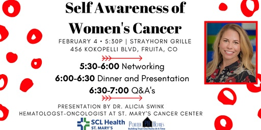 February 2020 PWB After Hours- Self Awareness of Women's Cancer- Sponsored by Porter Homes