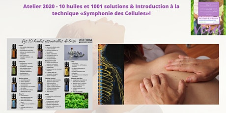 Atelier - 10 huiles & Introduction à la technique «Symphonie des Cellules»! tickets