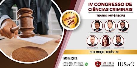 IV Congresso de Ciências Criminais tickets