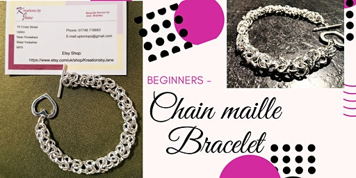 Jewellery Making Workshop - How To Create A Byzantine Chain Maille Bracelet