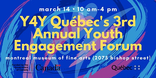 Y4Y Quebec's 3rd Annual Youth Engagement Forum