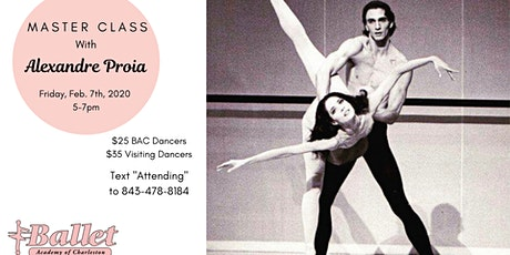 BAC's Master Class with the famous Alexandre Proia tickets