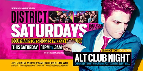 DISTRICT Southampton // Throwback Alt Anthems // £ tickets