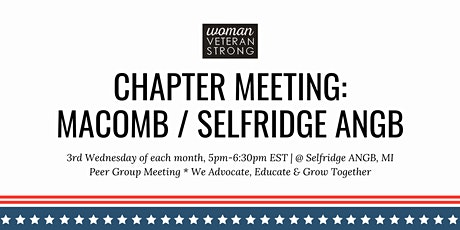 Woman Veteran Strong: Chapter Meeting (Selfridge ANGB) tickets