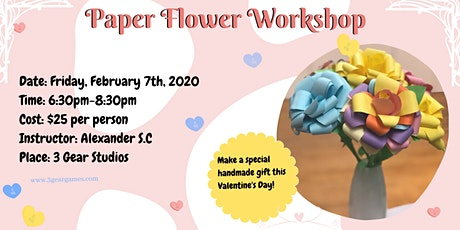 Valentine Paper Flower Workshop tickets