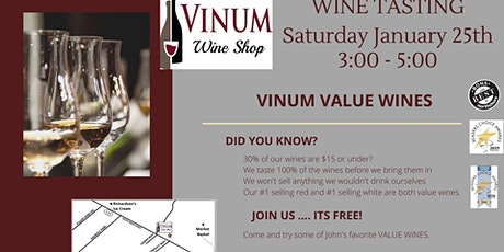 Value Wine Tasting tickets