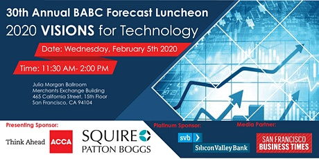 30th Annual BABC Forecast Luncheon | 2020 Visions for Technology tickets