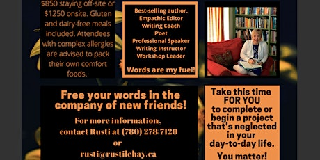 Writing Retreat - Invest in You, Invest In Your Words tickets