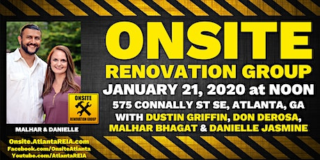 Onsite Renovation Group at Malhar & Danielle's Finished Rehab in Atlanta tickets